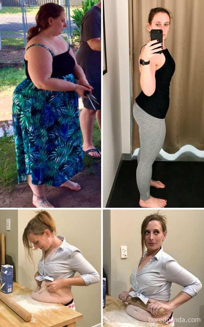 Pierdere în greutate de 10 kilograme înainte și după