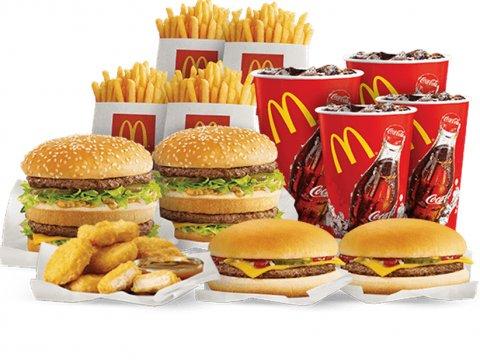 McDonald în calorii