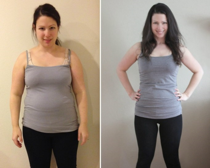 Pierdere în greutate de 10 săptămâni înainte și după
