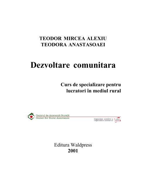 (PDF) Dezvoltare comunitara | TEODOR MIRCEA ALEXIU - sudstil.ro