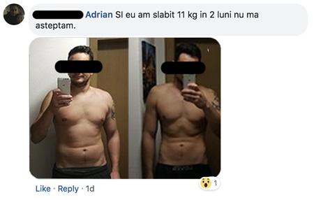 pierde 38 de kilograme de grăsime