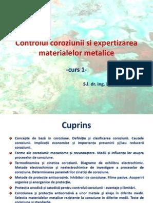 (PDF) CAPITOLUL I. COROZIUNEA MATERIALELOR- Definiţia coroziunii   Katta Lin - sudstil.ro