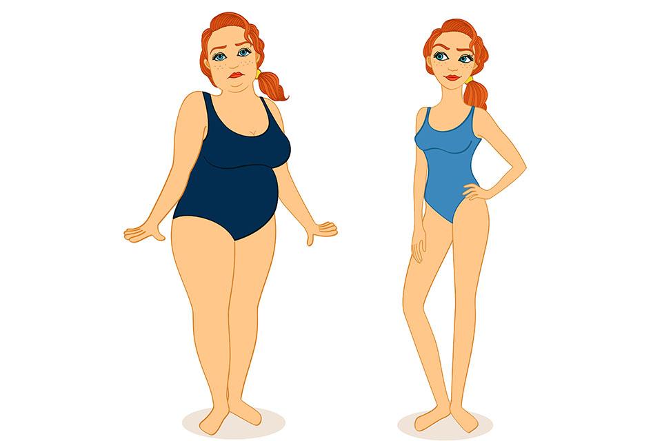 dispariția pierderii în greutate